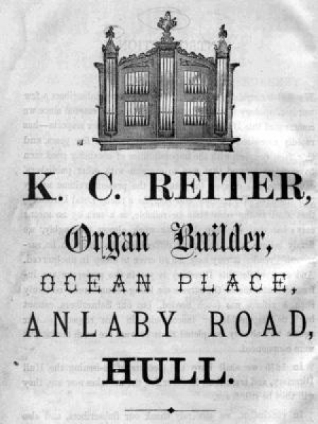 Advert for K. C. Reitner, organ builder.