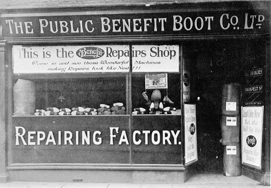 Brook Street shop front 1910.