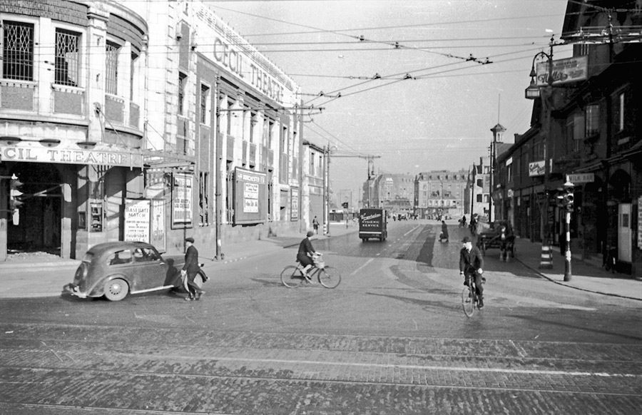 Ferensway 1942, courtesy of Hull History Services.