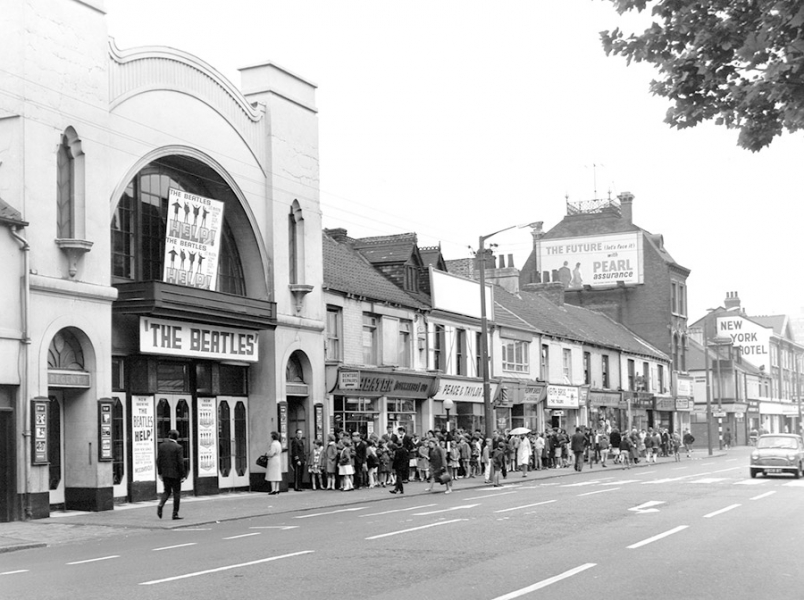 Nos 22 to 53 Anlaby Road 1965. The queue is for the Beatles