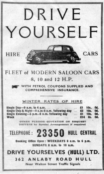 Advert for Drive Yourselves (Hull) Ltd.