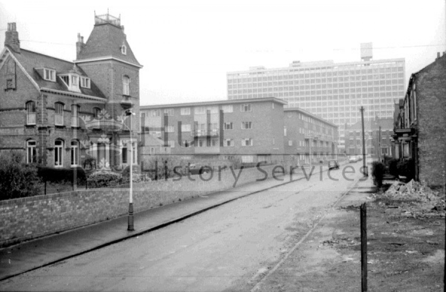 Linnaeus Street, 1967, courtesy of Hull History Services.