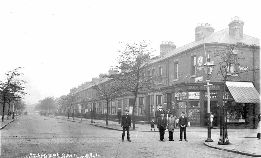 St Georges Road, Woodcock Street corner, 1905.